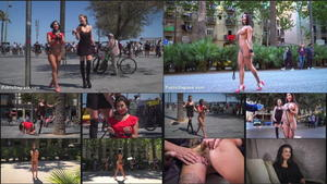 PUBLIC DISGRACE: Jul 8, 2016 - Steve Holmes  , Tina Kay  , and Susy Gala/Busty Fuck Doll taken to the Beach!!!