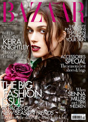 Keira Knightley graces the cover of the September Issue of Harpers Bazaar!