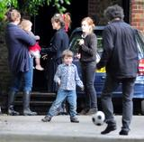 Emma Watson in Jeans visiting Helena Bonham Carter in London 08/26/09