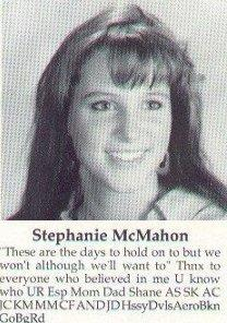 Stephanie McMahon old High School Photo
